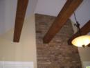 Reclaimed Wood Beams in Custom Home