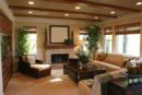 Comfortable Great room with exposed beams New Construction