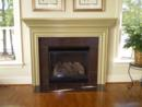 Fireplace with Decorative Tile Surround in Estates of Grey Oaks