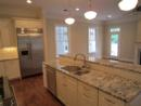 Kitchen with Delicatus White Granite by REICO Richmond VA